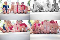 too cute - love this idea for xmas as a unique photo to frame and give to grandparents.  Would be great as a family portrait too :)