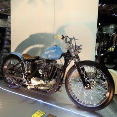 Bobber Inspiration   Ironhead bobber at the Yokohama hotrod custom show...   Bobbers and Custom Motorcycles