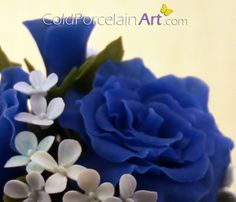 Cold Porcelain Art. Handcrafted Flowers. www.coldporcelainart.com #blue rose, #coldporcelain, #flowers, #gifts