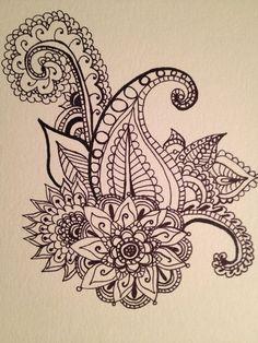 tattoo ideas, henna style, henna designs, henna tattoos, henna tattoo designs, paisley henna, doodl, tattoo pretty design