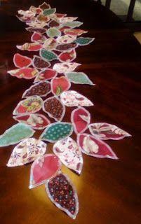 Leaf Table Runner Serger Project