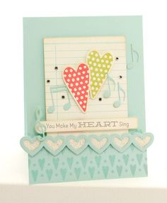 Homespun Hearts, Hearts and Stitches, Journal It - For the Record, Layered Heart Border Die-namis - Lisa Johnson