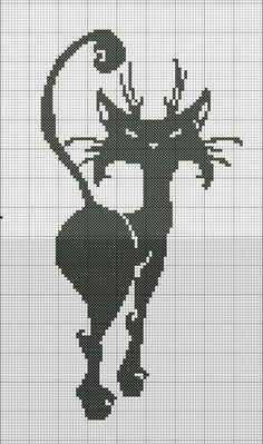 Cross-stitch Black Cat...   Montones de gatos. Yoli.
