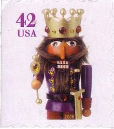 Christmas � King Nutcracker (small size) ATM machine booklet stamp, serpentine die cut 8 on 2, 3 or 4 sides postag stamp, stamp christma, christma stamp, stamp collector, christma nutcrack