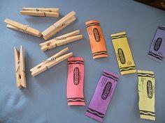 Crayon Clothespins