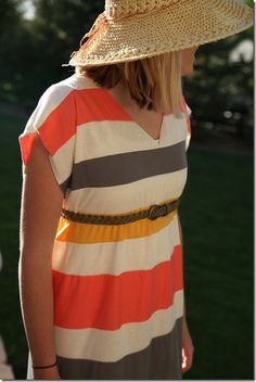 striped maxi dress...it's on my list. love the colors of this one