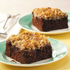 Chocolate Zucchini Cake with Coconut Frosting Recipe from Taste of Home -- shared by Lois M Holben of Creal Springs, Illinois
