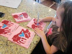 childrens handmade valentines idea HAND PRINT VALENTINES DIY ~ VALENTINES GIFT IDEAS