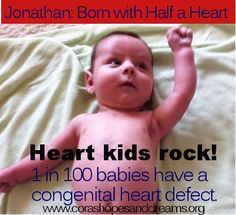 Heart kids rock! 1 in 100 babies are born with a broken heart. Info at http://www.corashopesanddreams.org
