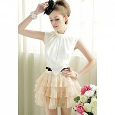 Elegant Butterfly Collar Solid Color Sleeveless Shirt For Women