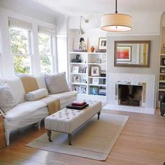 We named this amazing living room redo as one of our One-Room Wonders for our Reader Remodel Contest in 2011. It's still one of my faves. #AwardWinner #fleamarket #decorating | Photo: Ryan Kurtz | thisoldhouse.com