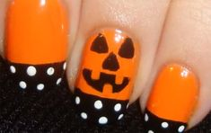 I think this will be my first Halloween manicure. How To Create Pumpkin Nails For Halloween