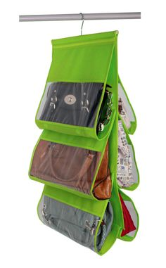 HANGING HANDBAG STORAGE ORGANIZER GREEN - 16.5X28 -$4.99