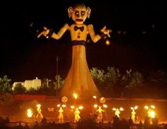 The burning of Zozobra in Santa Fe, NM