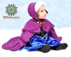 Frozen inspired Anna Cape & Hat