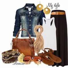Get Inspired by Fashion: Spring Outfits   Maxi Skirt  #spring_Jewelry_Outfits #lovely #Vintage