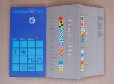 Beautiful olympics flyer by Otl Aicher