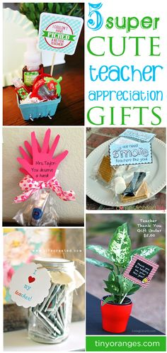 5 Teacher Appreciation Gift Ideas