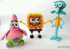filigrana, spongebob crafts, friends, spongebob squarep, paper quilling 3d, art, 3d quilling, spongebob friend, crafti goodi