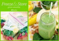 Freeze-and-Store Green Smoothies