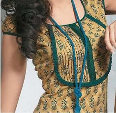 Piping work on salwar kameez- part1   Salwar Kameez Neck and Pattern Designs