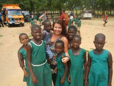 A Cal U student delivered donations to many schools in Ghana during her Semester at Sea experience.