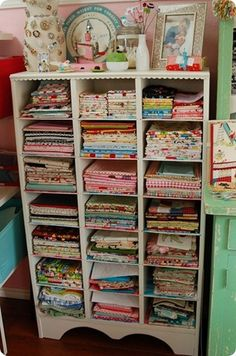 This Is A Great Storage Idea For Crafters With Lots Of Little Ribbons,  Jewelry Making Supplies, Beads And Such. You Can Buy These Bins At Your  Local Dollar ...
