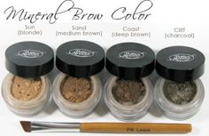 Pure Anada Mineral Brow Color - Fragrance-free. Available @ What's in Store (Cobourg, ON) #unscented #scentfree #fragrancefree
