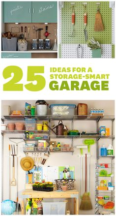 Wave goodbye to your chaotic garage! Here's how to maximize storage space:   www.bhg.com/...