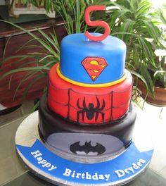 Super Hero Tiered cake