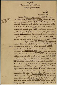 The Hound of the Baskervilles  Original manuscript (with edits)  First page of chapter nine.