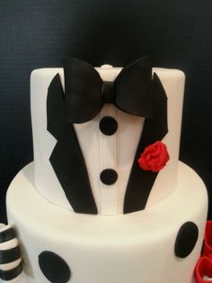 Happy Birthday Cake With Tuxedo Jacket