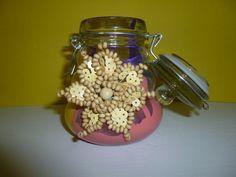 Handpainted Glass Mason Jar by TrueColorsBoutique on Etsy, $10.00