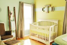 Bright Nursery: Yellow and Mint Green #Nursery
