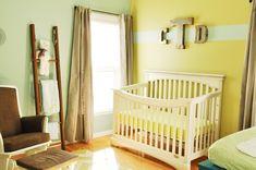 Bright Nursery: Yellow and Mint Green #Nursery