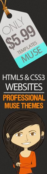 Adobe Muse Theme $5.99 http://mimundografico.com/muse-themes.html #html5 #css #template