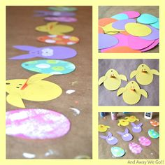 Easter Garland - fun craft time with kids too!