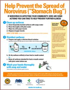 How to prevent spreading norovirus