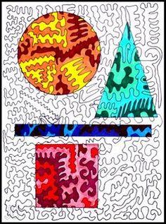 sub plans, color schemes, abstract art, geometric shapes, art lesson