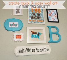 Delightfully Noted: Create Your Own Kid's Wall Art with Pic Monkey