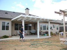 Deck on pinterest deck design decks and deck plans for Carport deck combination
