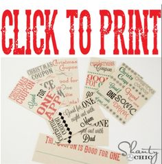Christmas stocking stuffer printable
