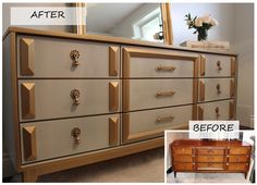 Check out the transformation of this dresser. #Upcycle #DIY