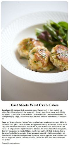 East Meets West Crab Cakes #CookingwithChefDaniel #DanielsKitchen