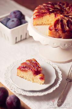 Italian Plum Upside Down Cake