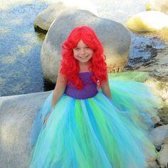 Newborn Size 9 Ariel Inspired Tutu Dress by krystalhylton on Etsy