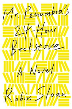 MR. PENUMBRAS 24-HOUR BOOKSTORE: A Novel By Robin Sloan.  A must read for those who love reading - whether it be on your reader, your smartphone, your computer, or an actual, real book!! A gleeful and exhilarating tale of global conspiracy, complex code-breaking, high-tech data visualization, young love, rollicking adventure, and the secret to eternal life - mostly set in a hole-in-the-wall San Francisco bookstore.