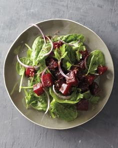 ROASTED BEETS ON GREENS http://www.wholeliving.com/216567/roasted-beets-greens