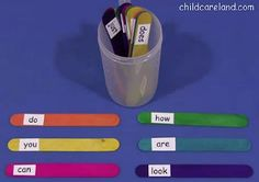 Sight Word Sticks - Re-pinned by @PediaStaff – Please Visit ht.ly/63sNt for all our pediatric therapy pins