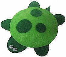 Bean bag turtle DIY craft with felt (no sew)